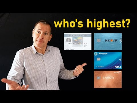 Which credit card companies give highest credit limits?
