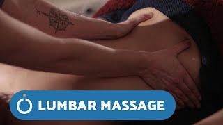 Massage Techniques - Massage For Lower Back Pain