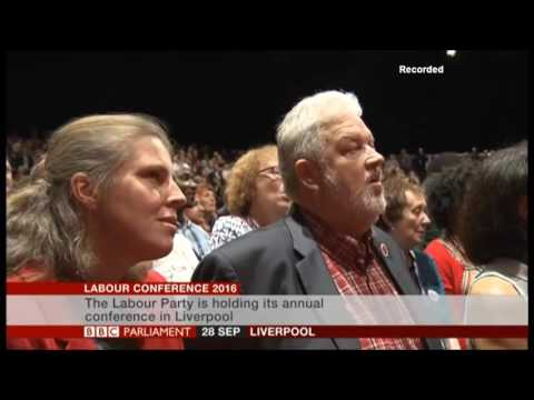 BBC Parliament Labour Conference 2016 Liverpool   Red Flag Song & Jerusalem   2016 9 28(3)