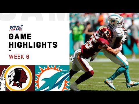 Redskins Vs. Dolphins Week 6 Highlights | NFL 2019