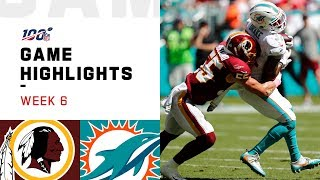 Redskins vs. Dolphins Week 6 Highlights | NFL 2019
