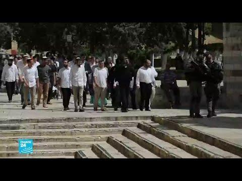 مستوطنون إسرائيليون يقتحمون باحات المسجد الأقصى في القدس
