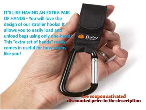 Buggy Clips by Baby Uma Hook your shopping /& bags safely on your Pushchair or