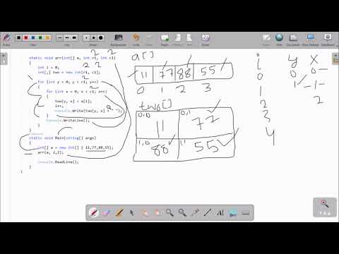 Convert 1D Array To 2D Array C#