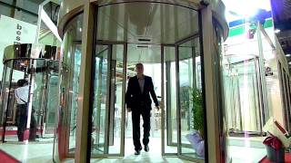[TRONCO] Automatic 2-Wing Revolving door with Silding door (旋轉自動門)