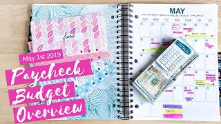 May 1st 2019 Paycheck Budget Overview