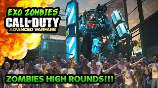 Call of Duty: Advanced Warfare - Zombies Highest Round Try-Harding! (Call of Duty Zombies Gameplay)