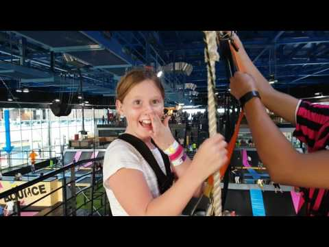 Bounce Abu Dhabi - Bethany on Zip Wire - Events with the Kids