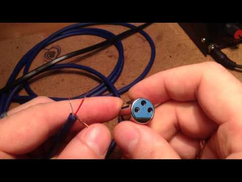 видео: распайка xlr разъема canon разъем  solder xlr