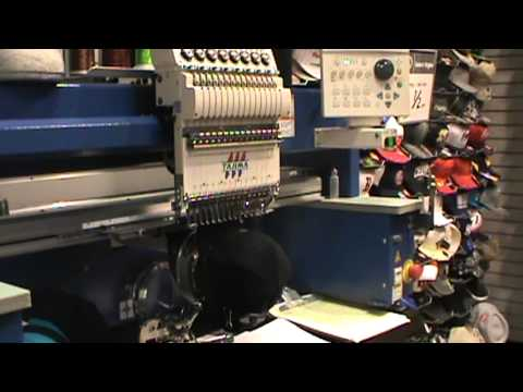 Lids Embroidery Machine Youtube