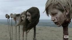 Heads on Pikes Scene   THE WALKING DEAD 9x15 [HD]