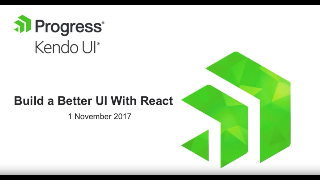 Download Build a Better UI With React and Kendo UI