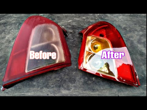 DIY Suzuki Swift tail light restoration || car tail light repair