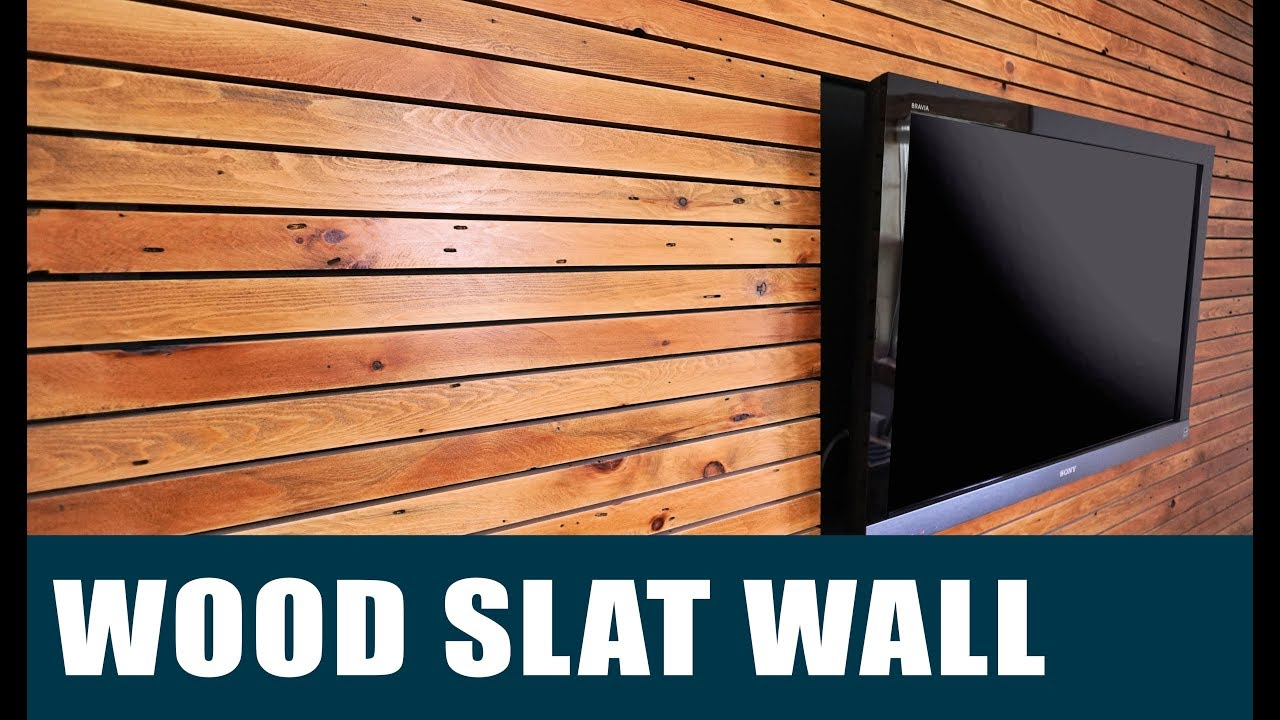 Slat Walls Making A Wood Slat Feature Wall