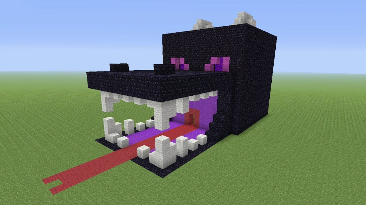 Minecraft tutorial how to make a ender dragon survival for Easy things to build