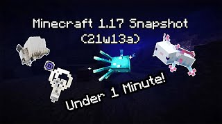 1.17 Minecraft Snapshot (21w13a) In Under 1 Minute!| #Shorts