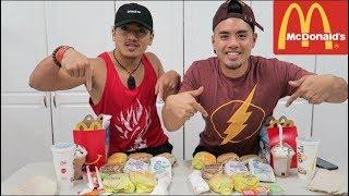 COMPLETE MCDONALD'S $1 $2 $3 MENU CHALLENGE! EAT OFF