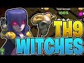 *NEW* TH9 WITCHES ARE OP! - TH9 3 Star War Strategy! - Clash of Clans - TH9 Witch Slap