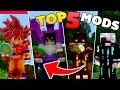 TOP 5 OS MELHORES MODS PARA O MINECRAFT PE ! - (Minecraft Pocket Edition)