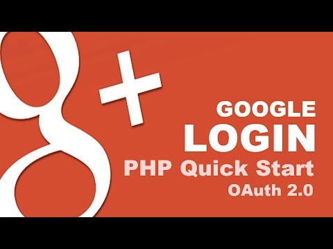 Google Login with PHP Quick Start