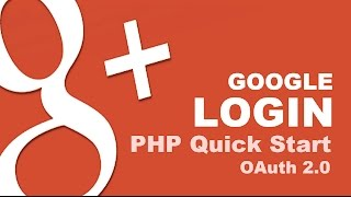 Google Login with PHP Quick Start - OAuth 2.0