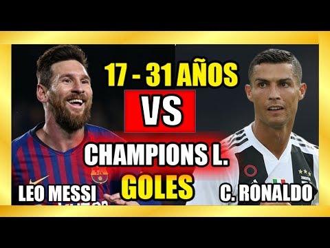 Lionel Messi vs Cristiano Ronaldo?Comparación Goles en Barcelona vs Real Madrid ?Champions League