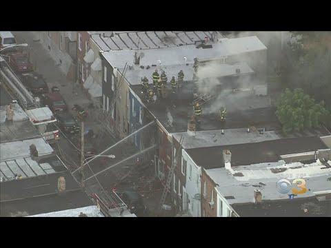 Chopper 3 Over Rowhome Fire In Kensington