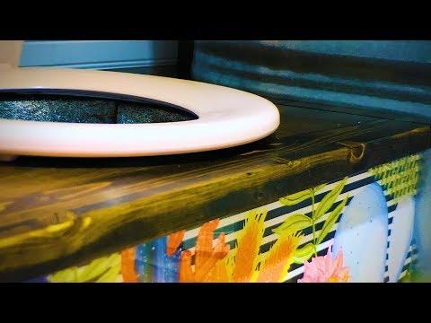 Composting Toilet: DIY bench + Kildwick Klassic separator/diverter