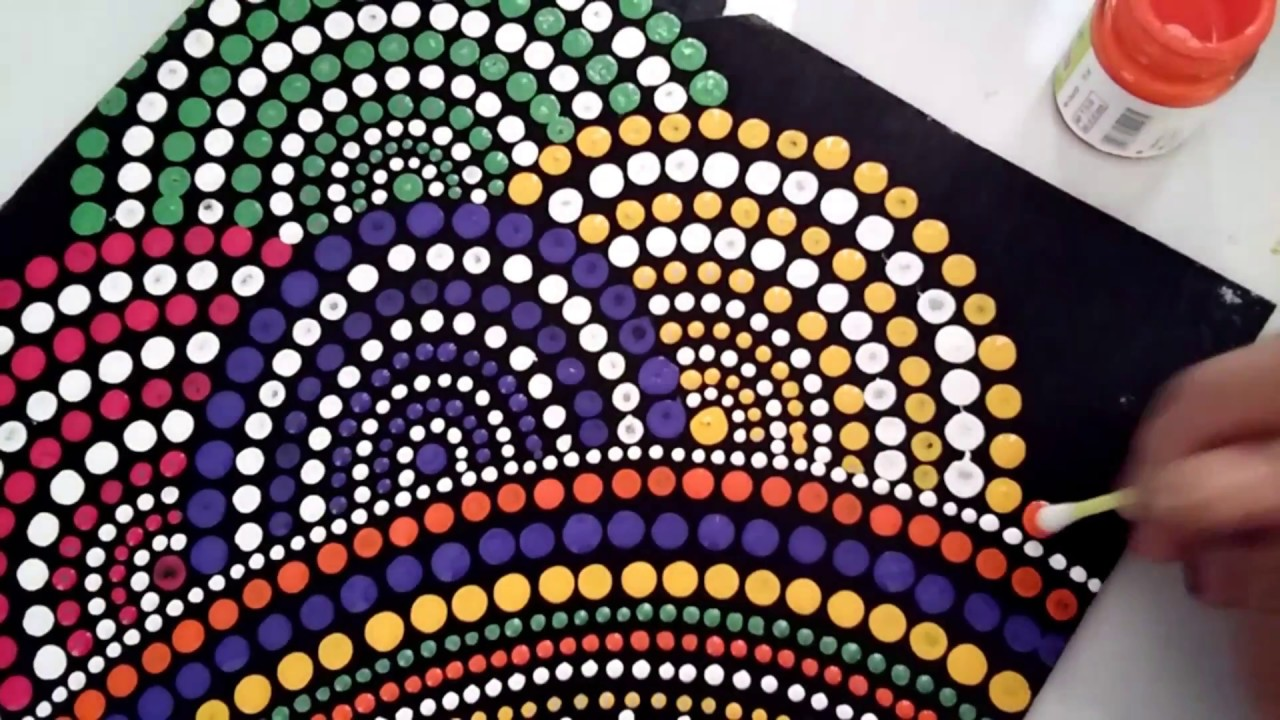 mandala dot art painting, simple and easy DIY - YouTube