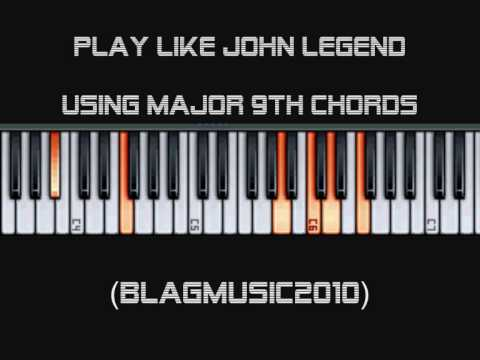 Piano ninth chords piano : Play Piano like John Legend - Using Major 9th Chords and Rootless ...