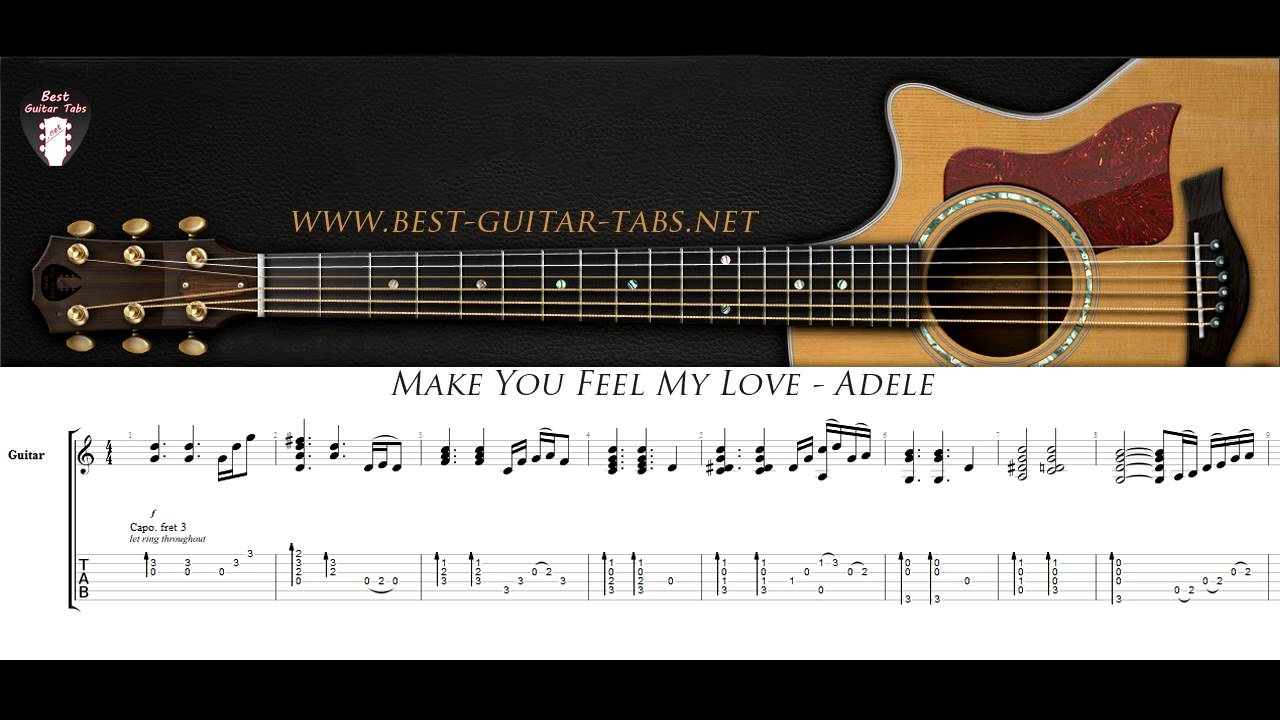 Make you feel my love adele solo fingerstyle guitar youtube make you feel my love adele solo fingerstyle guitar hexwebz Image collections