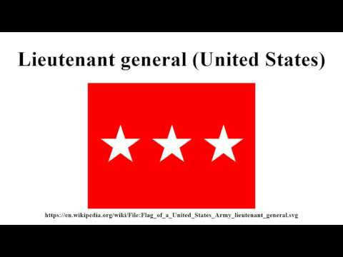 Lieutenant general (United States)