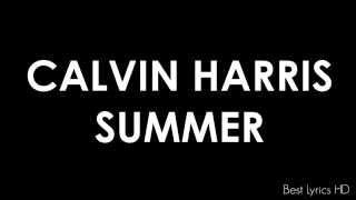 Summer - Calvin Harris (letra en ingles)