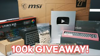 100K Celebration Giveaway + Unboxing My Silver Play Button!