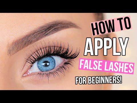 How To Apply False Eyelashes For Beginners!