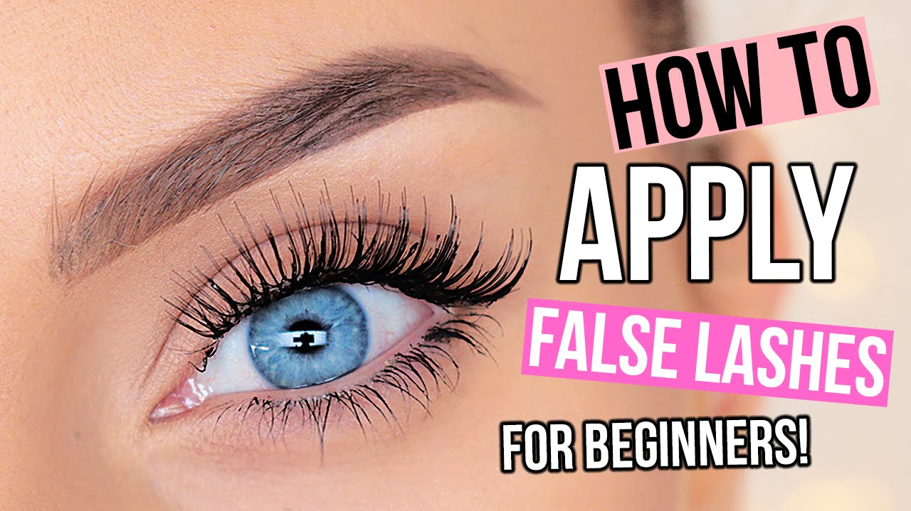 41922c9d25a How To Apply False Eyelashes For Beginners! - YouTube