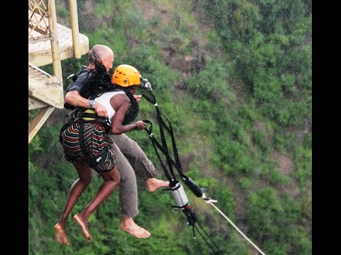 Engagement: Francis Tapon Proposes to Rejoice on Victoria Falls Bridge & Then They Jump Off of It!