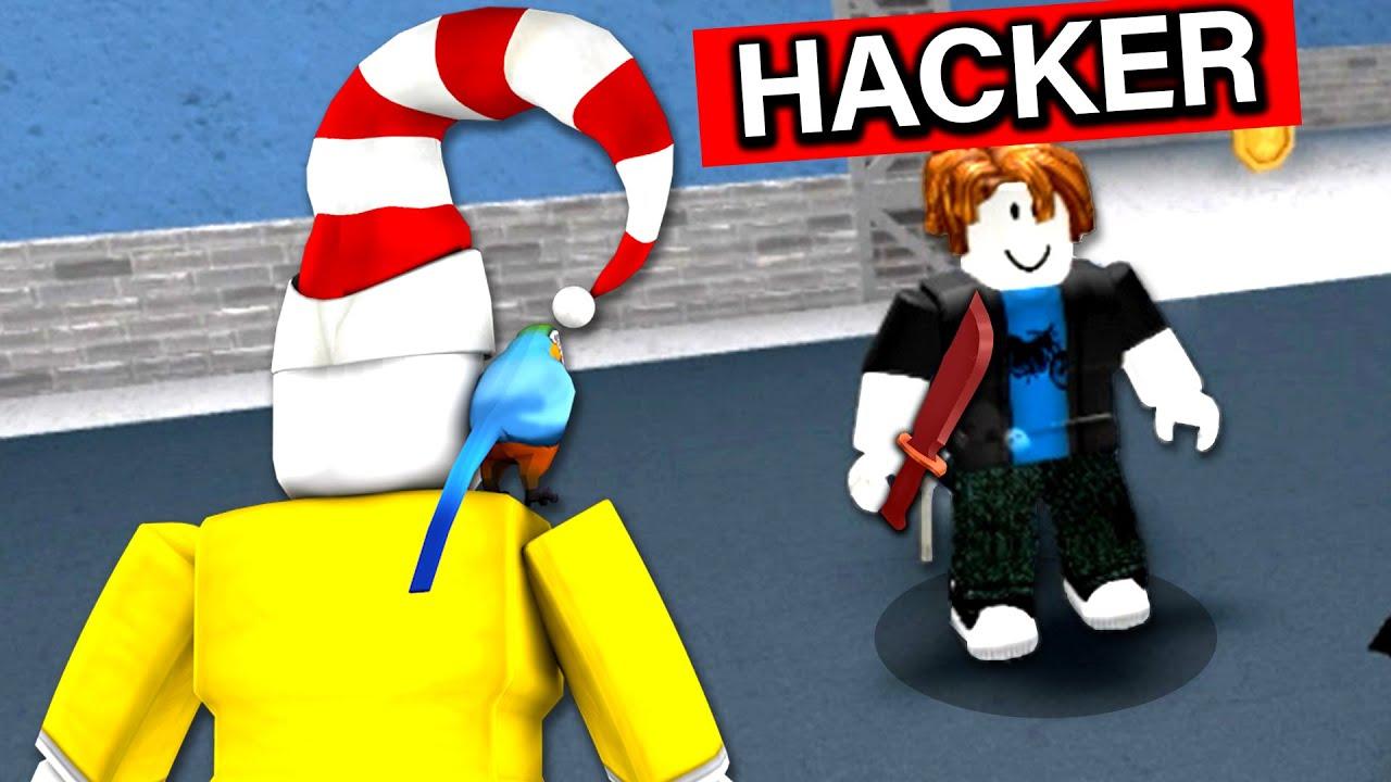 Giving Murderer To A HACKER in Roblox Murder Mystery 2..