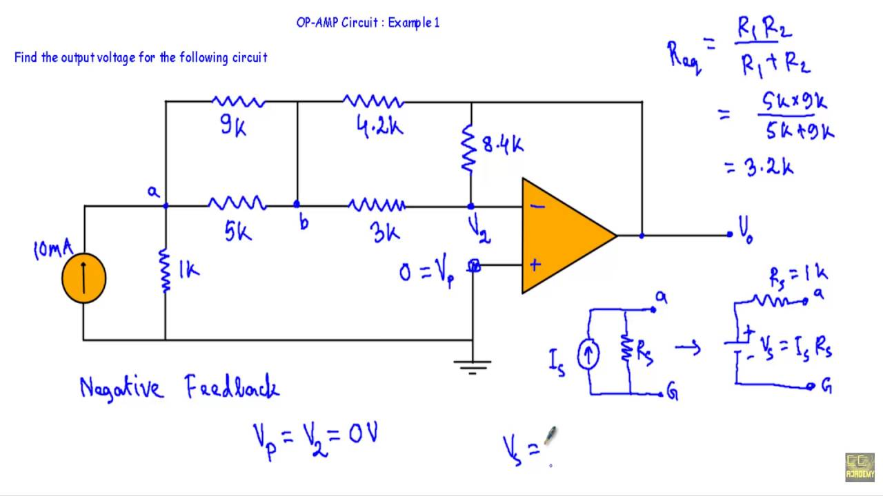 OP-AMP Circuit : Example 1 - YouTube on capacitor schematic, voltage divider schematic, power schematic, led driver schematic, radio receiver schematic, potentiometer schematic, igbt schematic, transistor schematic, mosfet schematic, variac schematic, antenna schematic, inductor schematic, schmitt trigger schematic, microprocessor schematic, cmos schematic, rectifier schematic, amplifier schematic, oscillator schematic, diode schematic, lm324 schematic,