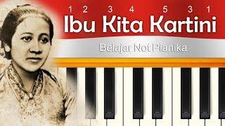Not Pianika Lagu Ibu Kita Kartini menyambut Hari Kartini 21 April 2019 ✅