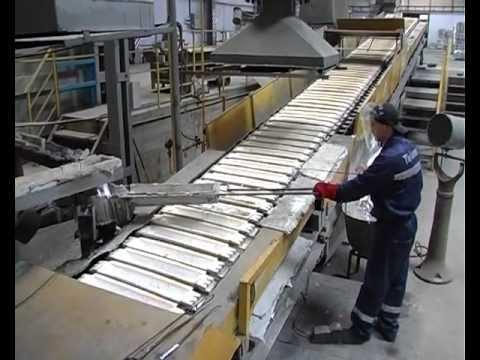 Производство алюминиевых сплавов. Production of aluminum alloy.