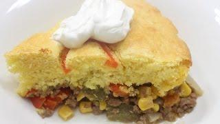 Quick, Easy Dinner Recipe!!  (Cornbread Casserole)