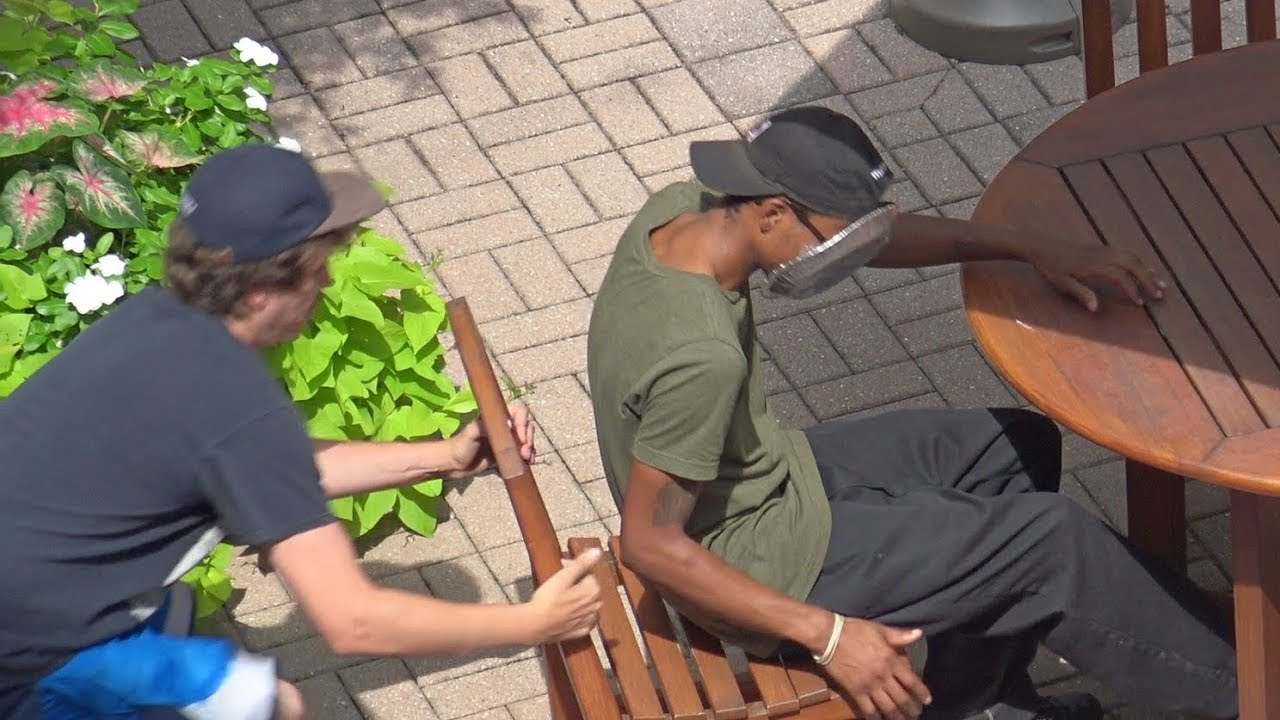 Chair Pull Pie in The Face Prank