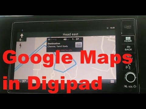 Install Google Maps in Honda City and WR-V Digipad