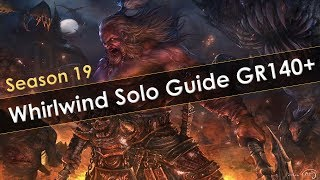 Diablo 3 Season 19 Whirlwind Solo Push Build Guide GR140+