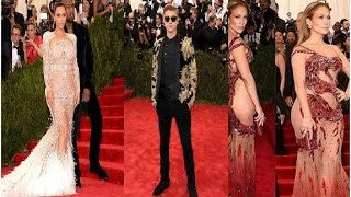 Parade of figures and famous artists in Met Gala Red Carpet 2015 @InstagramWorld