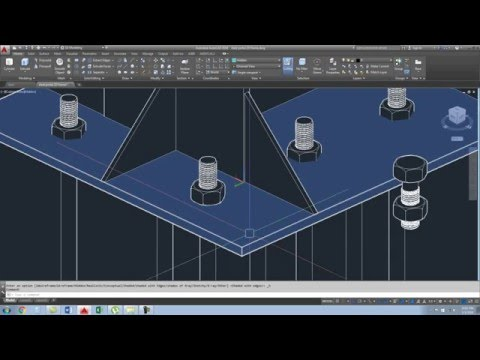 2D steel portal frame in AutoCAD_Part_1