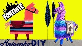 EASY CRAFT YOU CAN MAKE FORTNITE LLAMA BOOKMARK DIY TUTORIAL