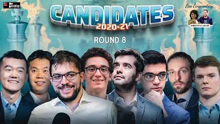 Candidates 2020-21 Round 8 | Live commentary by Sagar, Amruta and Ganguly