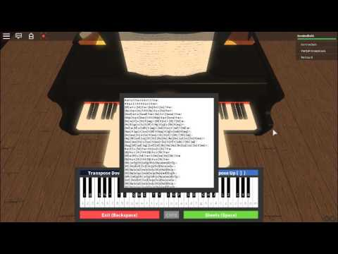 Canon In D Roblox Piano Practice Youtube